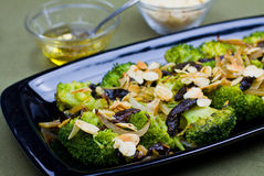 Warm broccoli salad Stock Photography