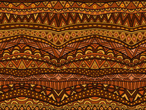 Warm Brown Ethnic Pattern. Seamless geometric tribal ornament. Abstract African pattern in warm tasty colors in shadows of chocolate. Background pattern Stock Photos