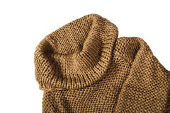 Warm brown sweater isolated on white background, horizontal Royalty Free Stock Images