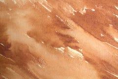 Warm brown watercolor background. Horizontal brown watercolor background abstract texture stock photography