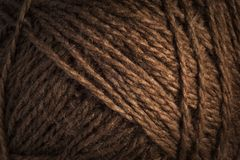 Warm brown wool threads background Royalty Free Stock Images