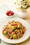 Warm buckwheat salad Stock Photography