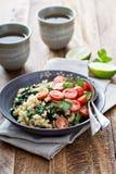Warm bulgur salad with kale Royalty Free Stock Photography