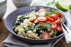 Warm bulgur salad with kale Royalty Free Stock Photos