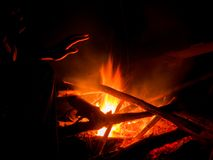 Warm Camp fire royalty free stock photo