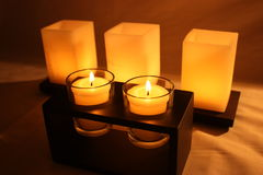 Warm candles Stock Photo