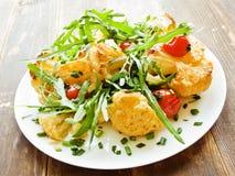 Warm cauliflower salad Stock Photos