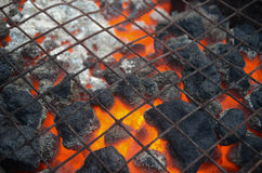 Warm Charcoal Fireplace BBQ Barbeque. Warm Charcoal Amber Fireplace BBQ Barbeque royalty free stock photography