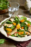 Warm chard salad. Stock Image