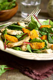 Warm chard salad. Royalty Free Stock Images