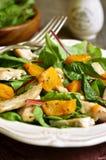 Warm chard salad. Stock Photo