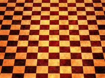 Warm Checkerboard Background. An yellow orange background with a checkered checkerboard pattern Stock Photography