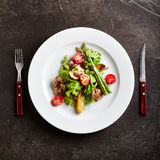 Warm Chicken Liver Salad Royalty Free Stock Photo