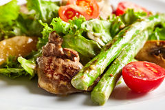 Warm Chicken Liver Salad Stock Photography