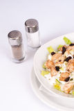 Warm chicken salad. With a cream dressing Stock Photography