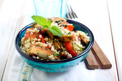 Warm chicken tabbouleh Stock Photos