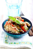 Warm chicken tabbouleh Royalty Free Stock Images