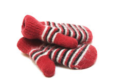 Warm children's mittens from a wool Royalty Free Stock Photography
