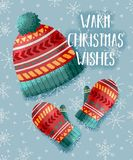 Warm Christmas Card Royalty Free Stock Image