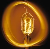 Warm Circle Light Bulb stock photos