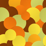 Warm Circles. Seamless background with many bright circles, vector illustration Vector Illustration