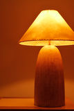 An warm and classical wooden lamp Stock Photos