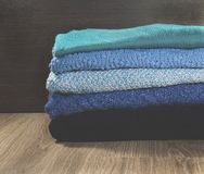 Warm clothes for autumn or winter Royalty Free Stock Images