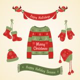 Warm clothes for Christmas. Royalty Free Stock Images