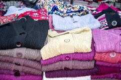 Warm clothes on sale Royalty Free Stock Photography