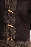 Warm clothing fur jacket winter fashion Stock Photos