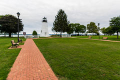 Warm Cloudy day in Havre De Grace, Maryland on the Board Walk.  Stock Images