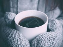 Warm Coffee Winter Hot Stock Images