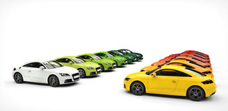 Warm And Cold Pallette of Color - Cars Stock Image