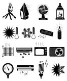 Warm cold temperature icons set Royalty Free Stock Photo
