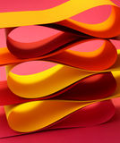 Warm color arc wave forms Stock Image