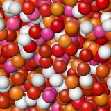 Warm color balls background Stock Images