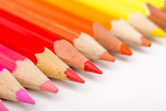 Warm Color Pencils Royalty Free Stock Photography