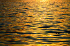 Warm Color Shining Sunset. Seamless Texture Warm Color Shining Sunset Water Surface Royalty Free Stock Image