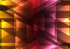 Warm color triangle and square bar abstract background Royalty Free Stock Image