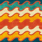 Warm color wave seamless pattern. Vector eps 10 Stock Images