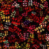 Warm colored leaves stock illustration
