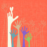 Warm colorful up hands, vector illustration Stock Images