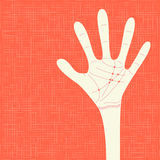 Warm colorful up hands, vector illustration Royalty Free Stock Images