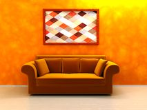 Warm colors interior Stock Images