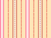 Warm colors stripes background. Seamless background made of stripes and hearts of warm colors Stock Photo