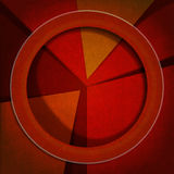 Warm Colors - Velvet Abstract Background. Abstract artistic background with warm colors, geometric shapes and shadows Stock Image