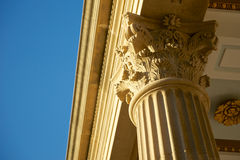 Warm Corinthian Columns Support Royalty Free Stock Photography