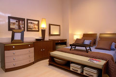 Warm cosy bedroom  Stock Photography
