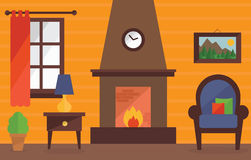 Warm and cosy living room. Stock Photography