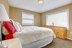 Warm cozy bedroom Stock Photography